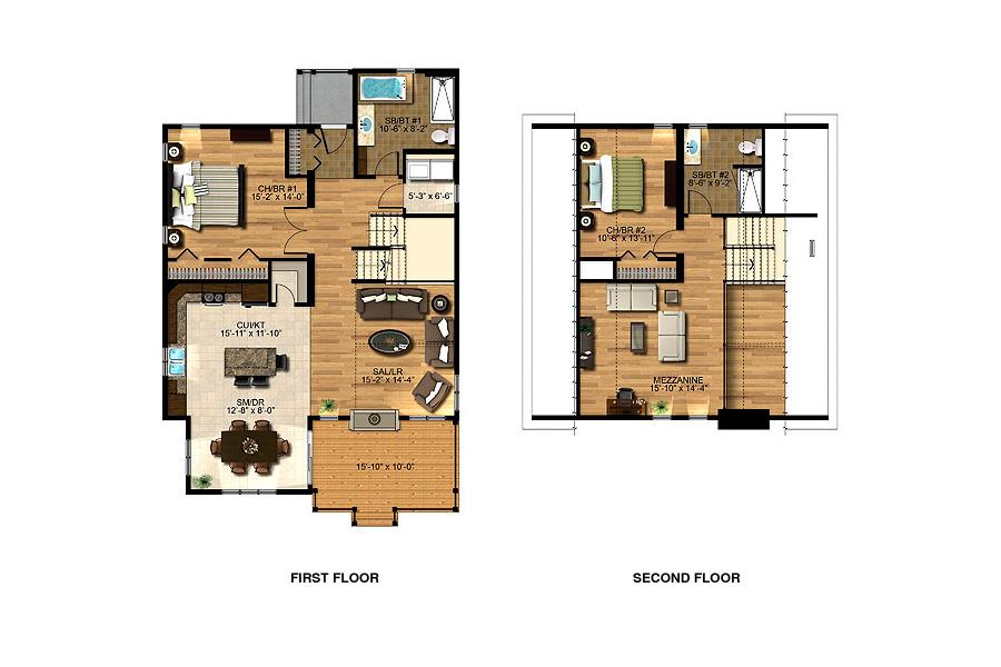 Bowker sea hawk homes for Mezzanine house plans
